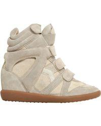 Isabel Marant   Etoile 80mm Bekett Suede Wedge Sneakers   Lyst
