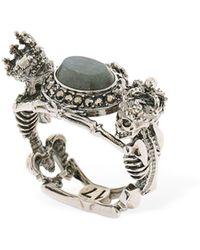 Alexander McQueen - Skeleton Queen & King Labradorite Ring - Lyst