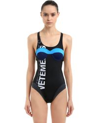 Vetements - Black Double Logo Swimsuit - Lyst