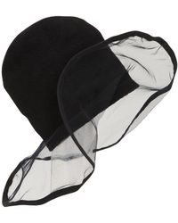 Scha - La Luna Wool Knit Beanie W/ Tulle Brim - Lyst
