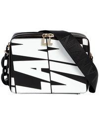 Lanvin - Logo Printed Leather Camera Bag - Lyst