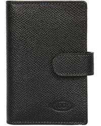 Tod's - Stitched Embossed Leather Card Holder - Lyst