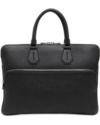 Bally - Pebbled Leather Laptop Briefcase - Lyst