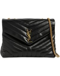 Saint Laurent - Medium Loulou Monogram Leather Bag - Lyst