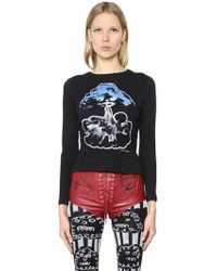 Claire Barrow - Cloud Printed Cotton Jersey T-shirt - Lyst