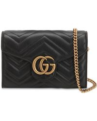Gucci - Gg Marmont Leather Shoulder Bag - Lyst