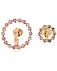 Charlotte Chesnais - Saturn Sapphire & Amethyst Earrings - Lyst
