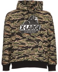 X-Large - Tiger Camo Og Hooded Cotton Sweatshirt - Lyst