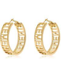 Vetements - Small Hoop Brass Earrings - Lyst