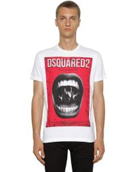 DSquared² - T-shirt In Jersey Di Cotone - Lyst