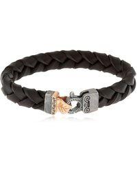 MARCO DAL MASO | Braided Leather Bracelet | Lyst