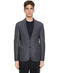 Giorgio Armani - Chevron Printed Stretch Mesh Jacket - Lyst