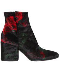 Strategia - 70mm Velvet Ankle Boots - Lyst
