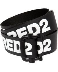 DSquared² - 40mm Cotton Waxed Logo Belt - Lyst