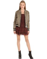 Étoile Isabel Marant   Embroidered Printed Cotton Bomber Jacket   Lyst