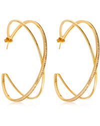 Joanna Laura Constantine - Large Criss Cross Earrings - Lyst