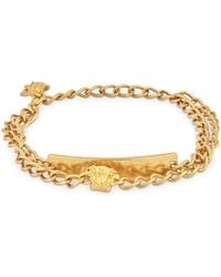 Versace - V-insignia Double Anklet - Lyst