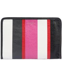 Balenciaga - Mini Bazar Striped Pouch - Lyst