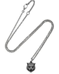 Gucci - Angry Cat Chain Necklace - Lyst