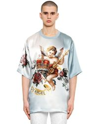 Dolce & Gabbana - Oversize Angels Printed Cotton T-shirt - Lyst