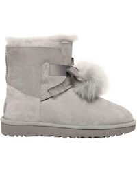 UGG - Gita Shearling Boots W/ Pompoms - Lyst