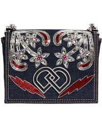 DSquared² - Dd Jeweled Denim Shoulder Bag - Lyst