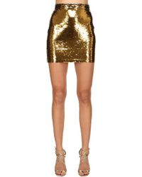 Amen - Sequined Mini Skirt - Lyst