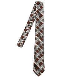Fendi - 6cm Ff Signature Silk Jacquard Tie - Lyst