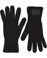 Prada - Wool Rib Knit Gloves - Lyst
