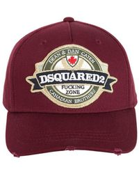 DSquared² - Logo Patch Cotton Baseball Hat - Lyst