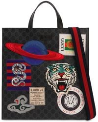 Gucci - Patched Gg Supreme Tote Bag - Lyst