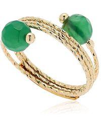 Rosantica   Orbita Green Quartz Ring   Lyst