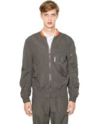 Kolor - Light Techno Cotton Bomber Jacket - Lyst