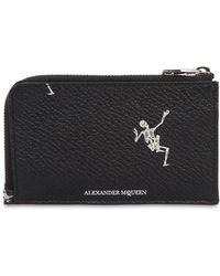 Alexander McQueen - Dancing Skeleton Leather Zip Wallet - Lyst