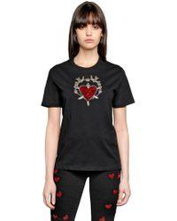 Amen - Sacred Heart Embellished Jersey T-shirt - Lyst