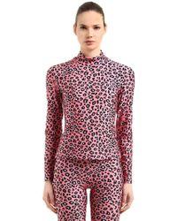 Vivetta - Leopard Printed Stretch Lycra Top - Lyst