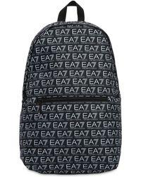 EA7 - Train Monogram Nylon Backpack - Lyst