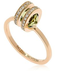 Delfina Delettrez - Seal Double Gold Peridot Ring - Lyst