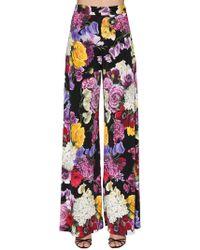 Dolce & Gabbana - Flower Print Trousers - Lyst