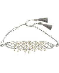 Night Market - Natural Pearls Crochet Necklace - Lyst