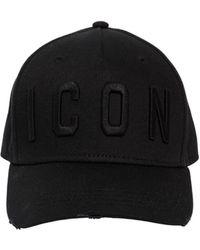 """DSquared² - Cappello Baseball """"icon"""" In Tela Di Cotone - Lyst"""
