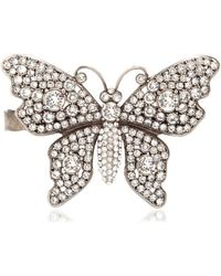 Gucci - Crystal Butterfly Hand Bracelet - Lyst