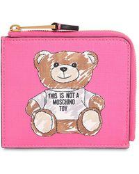 Moschino - Teddy Print Card Case - Lyst