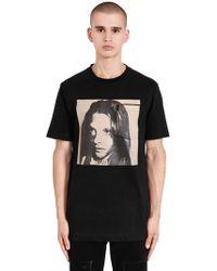 CALVIN KLEIN 205W39NYC - Sandra Brant Cotton Jersey T-shirt - Lyst