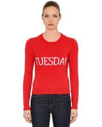 Alberta Ferretti - Slim Tuesday Wool & Cashmere Sweater - Lyst