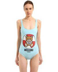 Moschino - Lifeguard Teddy Bear One Piece Swimsuit - Lyst