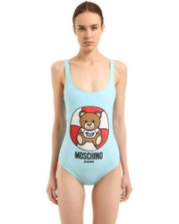 Moschino - Lifeguard Teddy Bear One Piece Swimsuit - Lyst
