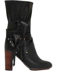 See By Chloé - 90mm Leather Boots - Lyst