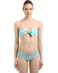 Albertine - Georgia Seersucker & Velvet Bikini - Lyst