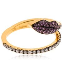 Delfina Delettrez - Marry Me Lips Ring - Lyst
